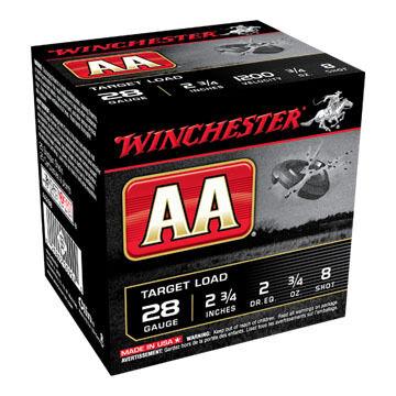 """Winchester AA Target 28 GA 2-3/4"""" 3/4 oz. #8 Shotshell Ammo (25)"""