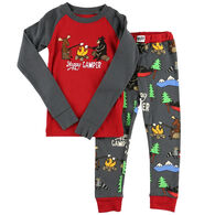 Lazy One Toddler Happy Camper PJ Set