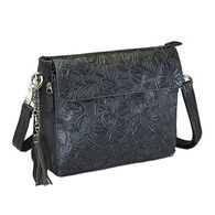 Gun Tote'n Mamas GTM-22 Tooled American Cowhide Concealed Carry X-Body Clutch