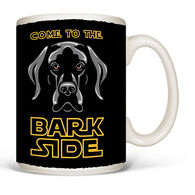 Earth Sun Moon Bark Side Star Wars Parody Mug