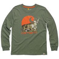 Carhartt Boys' Photo Real Deer Long-Sleeve T-Shirt