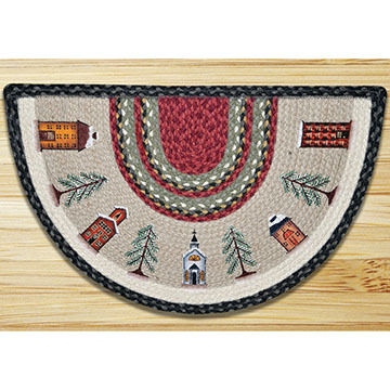 Capitol Earth Winter Village Printed Slice Rug