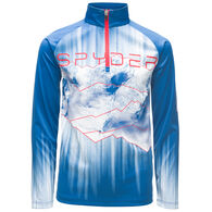 Spyder Boys' Limitless Rising Zip T-Neck Top