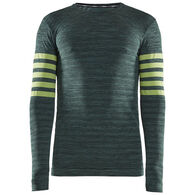 Craft Sportswear Men's Fuseknit Comfort Blocked Crew Baselayer Long-Sleeve Top