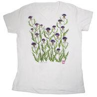 Liberty Graphics Women's Thistles V-Neck Short-Sleeve T-Shirt