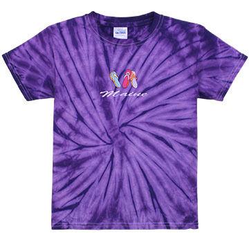 ESY Girls Tie Dye Flip Flops Short-Sleeve T-Shirt