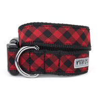 The Worthy Dog Bias Buffalo Plaid Dog Collar