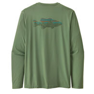 Patagonia Men's Capilene Cool Daily Fish Graphic Long-Sleeve T-Shirt