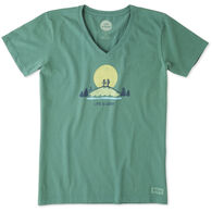 Life is Good Women's Vista Hike Crusher Vee Short-Sleeve T-Shirt