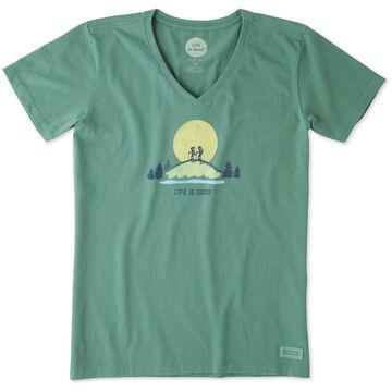Life is Good Womens Vista Hike Crusher Vee Short-Sleeve T-Shirt