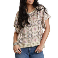 Odd Molly Women's Honey-Coated Short-Sleeve Blouse