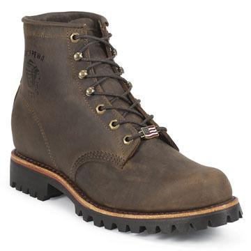Chippewa Mens 6 Unlined Vibram Lug Sole Work Boot