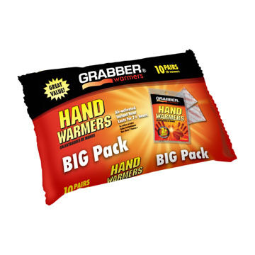 Grabber Hand Warmer Ten Pair Pack