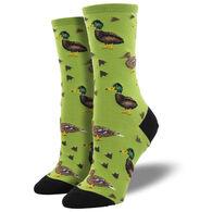 Socksmith Design Women's Lucky Ducks Crew Sock
