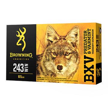 Browning BXV Predator & Varmit 243 Win 65 Grain Polymer Tip Rifle Ammo (20)