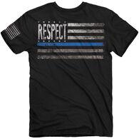 Buck Wear Men's Respect Blue Short-Sleeve T-Shirt