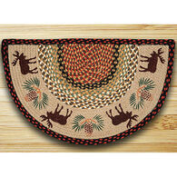 Capitol Earth Moose & Pinecone Slice Rug