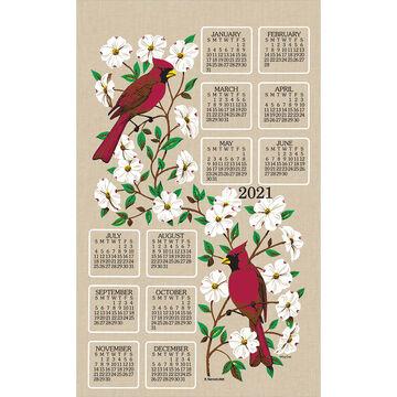 Kay Dee Designs 2021 Dogwood & Cardinal Calendar Towel