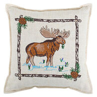 """Paine Products Balsam Fir 6"""" x 6"""" Moose In Swamp Balsam Pillow"""