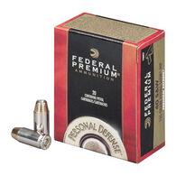 Federal Premium Personal Defense 40 Smith & Wesson 155 Grain Hydra-Shok JHP Handgun Ammo (20)