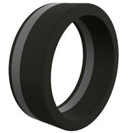 Qalo Men's Pinstripe Silicone Ring