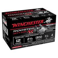 "Winchester Rooster XR 12 GA 2-3/4"" 1-1/4 oz. #4 Shotshell Ammo (15)"