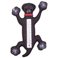 Bobbo Climbing Black Lab Window Thermometer