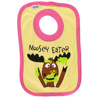 Lazy One Infant Girl's Moosey Eater Bib