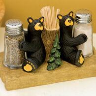 Big Sky Carvers Bear Salt & Pepper Shakers & Toothpick Holder