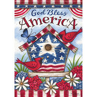 Carson Home Accents Flagtrends Americana Birdhouse Garden Flag