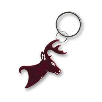 Bison Designs Deer Head Bottle Opener Keychain