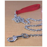Hamilton Steel Chain Nylon Handle Dog Lead