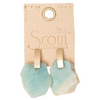 Scout Curated Wears Women's Stone Slice Earring - Labradorite/Gold
