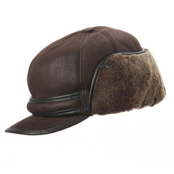Crown Cap Men's 8-Panel Shearling Renfrew Cap