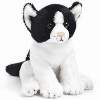 Nat & Jules Black And White Cat Beanbag Stuffed Animal