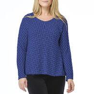 Habitat Women's Wave Knit Chevron Long-Sleeve Shirt