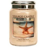 Village Candle Large Glass Jar Candle - Toes in the Sand