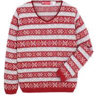 Binghamton Knitting Women's Nordic Vee Sweater