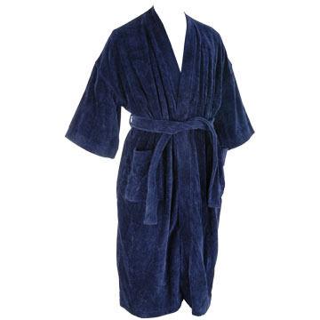 Majestic International Mens Basic Terry Velour Kimono Robe