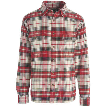 Woolrich Mens Big & Tall Oxbow Bend Plaid Flannel Long-Sleeve Shirt