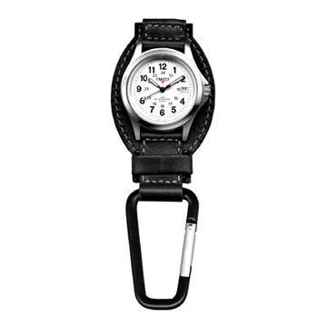 Dakota Genuine Leather Hanger Backpacker Clip Watch