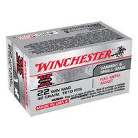 Winchester Super-X 22 Winchester Mag 40 Grain FMJ Rimfire Ammo (50)