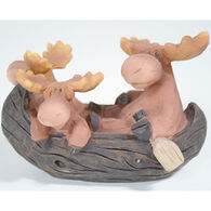 Slifka Sales Co Moose In Canoe Figurine