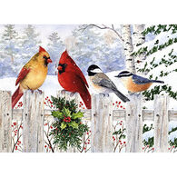 LPG Greetings Birds on White Fence Boxed Christmas Cards