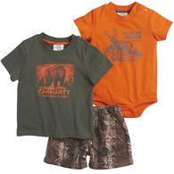 Carhartt Infant Boy's Camo Short-Sleeve 3-Piece Gift Set