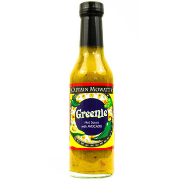 Captain Mowatts Greenie Hot Sauce, 8 oz.