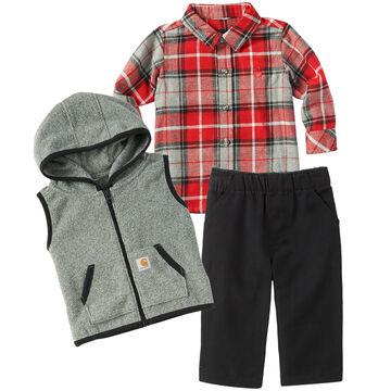 Carhartt Infant/Toddler Boys Flannel/Vest Gift Set
