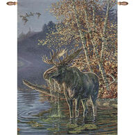 Manual Woodworkers & Weavers Moose In The Water Wall Hanging