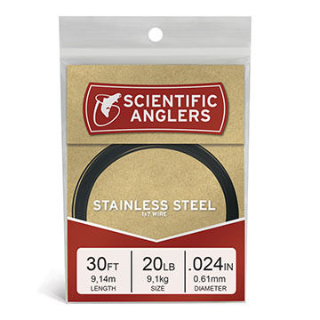 Scientific Anglers Stainless Wire Leader - 30 Ft.