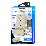 Xtreme Duplex Lighted Wall Plate w/ USB Ports